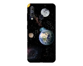Husa Silicon Soft Upzz Print Samsung Galaxy A60 Model Earth