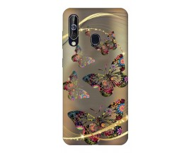 Husa Silicon Soft Upzz Print Samsung Galaxy A60 Model Golden Butterfly