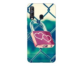 Husa Silicon Soft Upzz Print Samsung Galaxy A60 Model Heart Lock