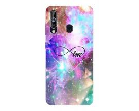 Husa Silicon Soft Upzz Print Samsung Galaxy A60 Model Neon Love