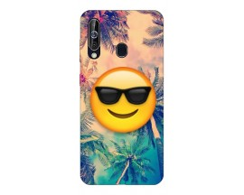 Husa Silicon Soft Upzz Print Samsung Galaxy A60 Model Smile