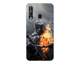 Husa Silicon Soft Upzz Print Samsung Galaxy A60 Model Solider