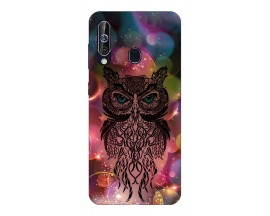 Husa Silicon Soft Upzz Print Samsung Galaxy A60 Model Sparkle Owl