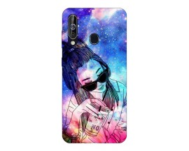 Husa Silicon Soft Upzz Print Samsung Galaxy A60 Model Universe Girl
