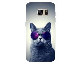 Husa Silicon Soft Upzz Print Samsung S7 Model Cool Cat