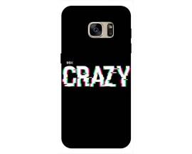 Husa Silicon Soft Upzz Print Samsung S7 Model Crazy