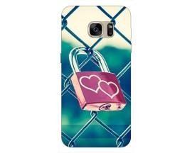 Husa Silicon Soft Upzz Print Samsung S7 Model Heart Lock
