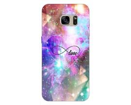 Husa Silicon Soft Upzz Print Samsung S7 Model Neon Love