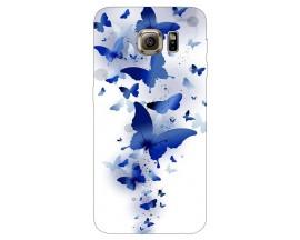 Husa Silicon Soft Upzz Print Samsung S6 Model Blue Butterflies