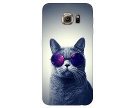 Husa Silicon Soft Upzz Print Samsung S6 Model Cool Cat