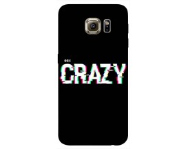 Husa Silicon Soft Upzz Print Samsung S6 Model Crazy