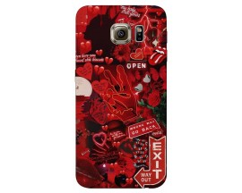 Husa Silicon Soft Upzz Print Samsung S6 Model Enjoy
