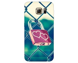 Husa Silicon Soft Upzz Print Samsung S6 Model Heart Lock