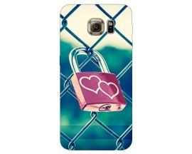 Husa Silicon Soft Upzz Print Samsung S6 Model Heart Lock
