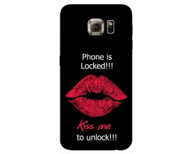 Husa Silicon Soft Upzz Print Samsung S6 Model Kiss