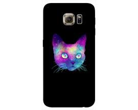 Husa Silicon Soft Upzz Print Samsung S6 Model Neon Cat