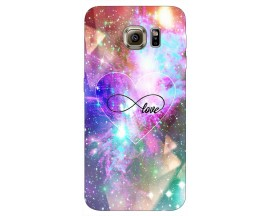 Husa Silicon Soft Upzz Print Samsung S6 Model Neon Love