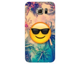 Husa Silicon Soft Upzz Print Samsung S6 Model Smile