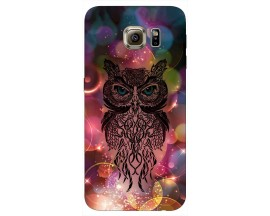 Husa Silicon Soft Upzz Print Samsung S6 Model Sparkle Owl
