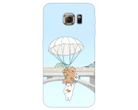 Husa Silicon Soft Upzz Print Samsung S6 Model Three Bears