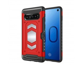 Husa Spate Anti-shock Forcell Magnet Case Samsung Galaxy S10+ Plus Red