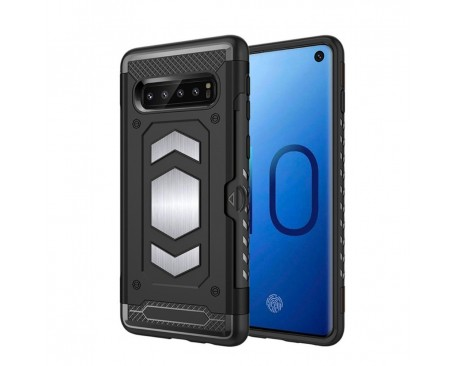 Husa Spate Anti-shock Forcell Magnet Case Samsung Galaxy S10+ Plus Negru
