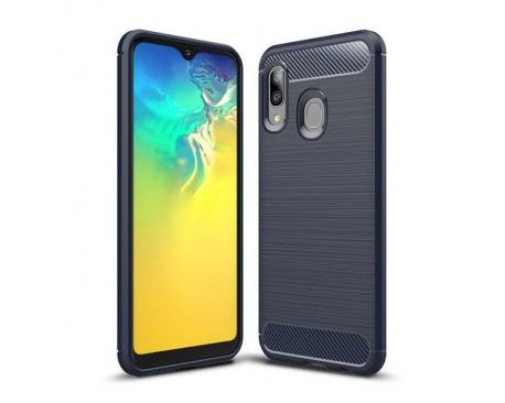 Husa Spate Upzz Carbon Fiber Samsung Galaxy A20e Albastru