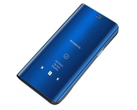Husa Tip Carte Mirror Samsung Galaxy S10 Mov, Suport Incarcare Priza Cadou