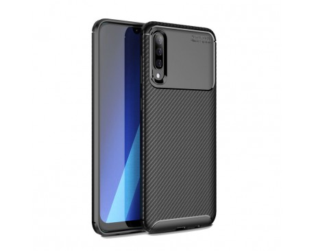 Husa Premium Rugged Carbon New Auto Focus Samsung Galaxy A70 Negru