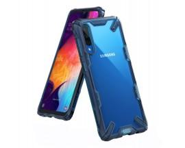 Husa Premium Ringke Fushion X Samsung Galaxy A70 Albastru Transparent