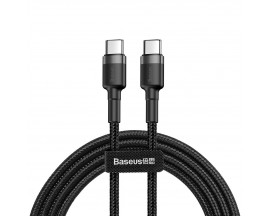 Cablu Premium Baseus Cafule Ultra Rezistent Textil USB-C la USB-C Negru-Gri