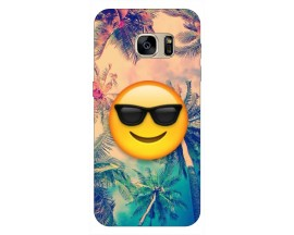Husa Silicon Soft Upzz Print Samsung S7 Edge Model Smile