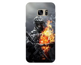 Husa Silicon Soft Upzz Print Samsung S7 Edge Model Solider