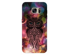Husa Silicon Soft Upzz Print Samsung S7 Edge Model Sparkle Owl