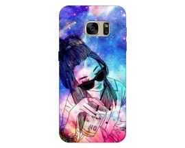 Husa Silicon Soft Upzz Print Samsung S7 Edge Model Universe Girl