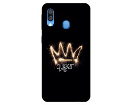 Husa Silicon Soft Upzz Print Samsung Galaxy A20e Model Queen