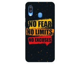 Husa Silicon Soft Upzz Print Samsung Galaxy A20e Model Fear