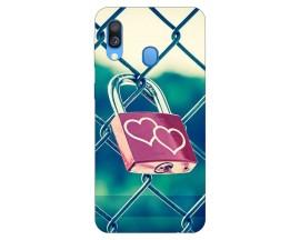 Husa Silicon Soft Upzz Print Samsung Galaxy A20e Model Heart Lock