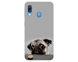 Husa Silicon Soft Upzz Print Huawei Samsung Galaxy A40 Model Dog