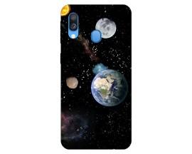 Husa Silicon Soft Upzz Print Samsung Galaxy A20e Model Earth