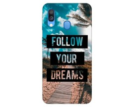 Husa Silicon Soft Upzz Print Huawei Samsung Galaxy A40 Model Dreams