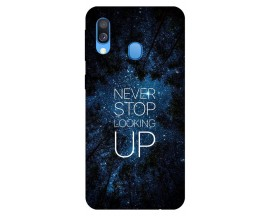 Husa Silicon Soft Upzz Print Huawei Samsung Galaxy A20e Model Never Stop