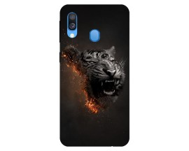 Husa Silicon Soft Upzz Print Samsung Galaxy A20e Model Tiger
