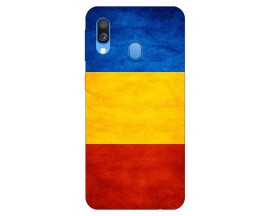 Husa Silicon Soft Upzz Print Huawei Samsung Galaxy A40 Model Tricolor