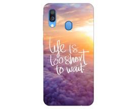 Husa Silicon Soft Upzz Print Huawei Samsung Galaxy A40 Model Keep Calm