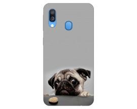 Husa Silicon Soft Upzz Print Huawei Samsung Galaxy A40 Model Dog
