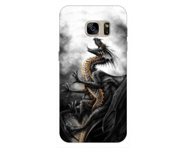 Husa Silicon Soft Upzz Print Samsung S7 Edge Model Dragon 1