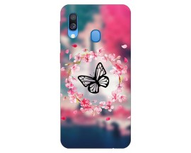Husa Silicon Soft Upzz Print Samsung Galaxy A40 Model Butterfly 1