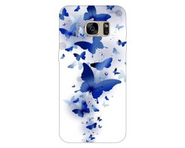 Husa Silicon Soft Upzz Print Samsung S7 Edge Model Blue butterflies