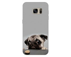 Husa Silicon Soft Upzz Print Samsung S7 Edge Model Dog